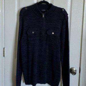 Dark Grey  Knit Men's Grey Sweater  L